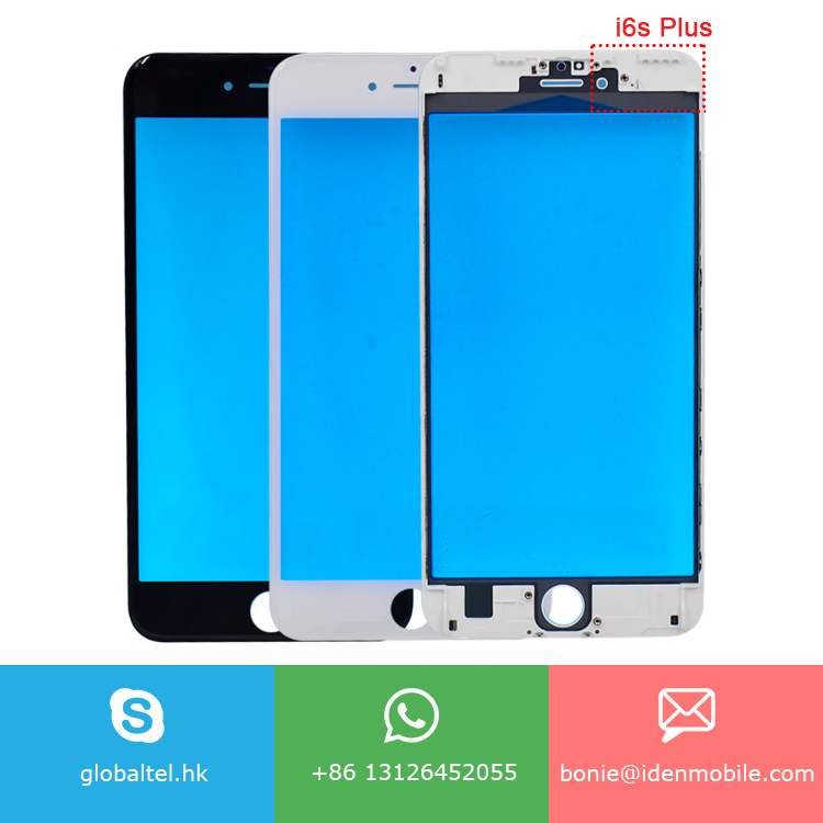 5.5 inch LCD Outer Touch Panel Front Glass lens for iphone 6s plus with frame OCA