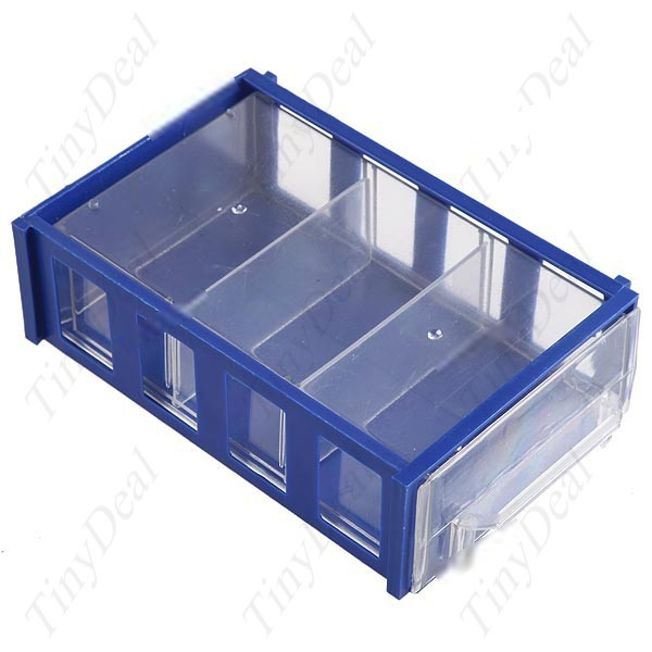 Bigtime Drawer Style Plastic Storage Box Case for Electronics Components Subassembly Parts Tools Chips CTL-35158