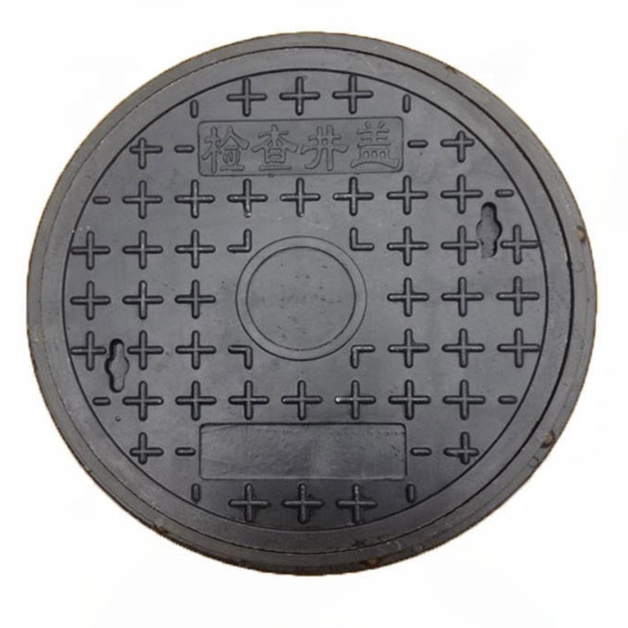 High Temperature Molded Resin Manhole Cover Green Lawn Frp