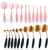 10 stücke Premium Qualität Synthetische make-up pinsel / Kristall Griff Make-Up Pinsel Set / Benutzerdefinierte Logo Make-Up Pinsel