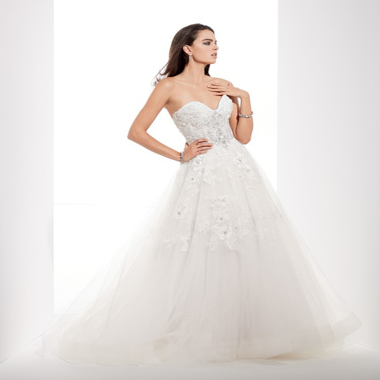 2015 New Designer Strapless Chiffon Princess Wedding Dress Women Brand Crstal Floor Length Vestidos NoivaSummerCelebrityBallGown