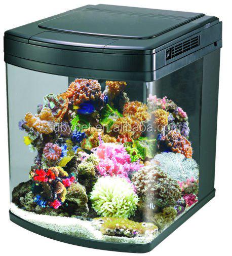 128l Nano Cube Marine Aquarium For Home Decoration With Led Light ...