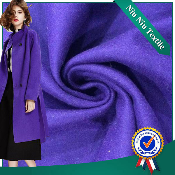 2016 Shaoxing Supplier Woven Alpaca Wool Fabric For Winter Overcoat
