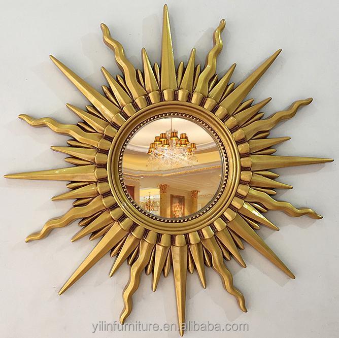 Estilo Europeo muebles del hotel en forma de sol Arte espejo de