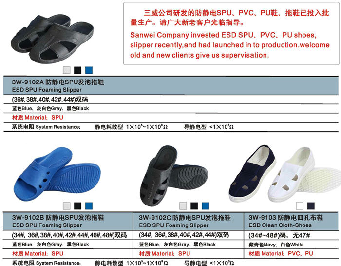 Indoor Working Wear Anti-slip Slipper Type Esd China Made Kitchen ...