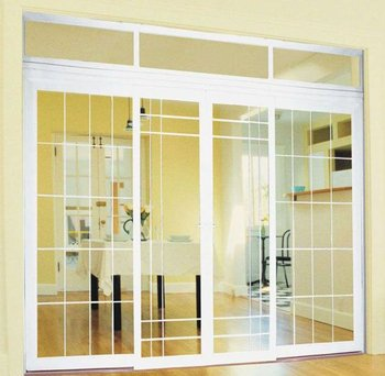 Elegante dise o de doble puerta doble panel de puerta corredera pvc puertas correderas para - Puerta corredera bano ...
