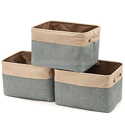 Foldable Canvas Storage Cube Organizer with handles for Home and Office