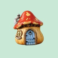 Miniature Handmade Woodland Garden Fairy Mushroom Gnome House