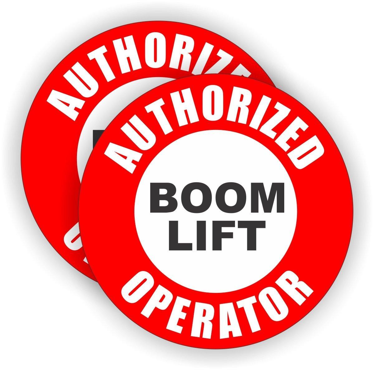 Buy Pair - Authorized Boom Lift Operator Hard Hat Stickers | Helmet