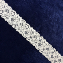 60 mm Fancy spandex knitting lace trim narrow polyester embroidery lace trim bridal nylon stretch Decoration Chemical Lace Trim