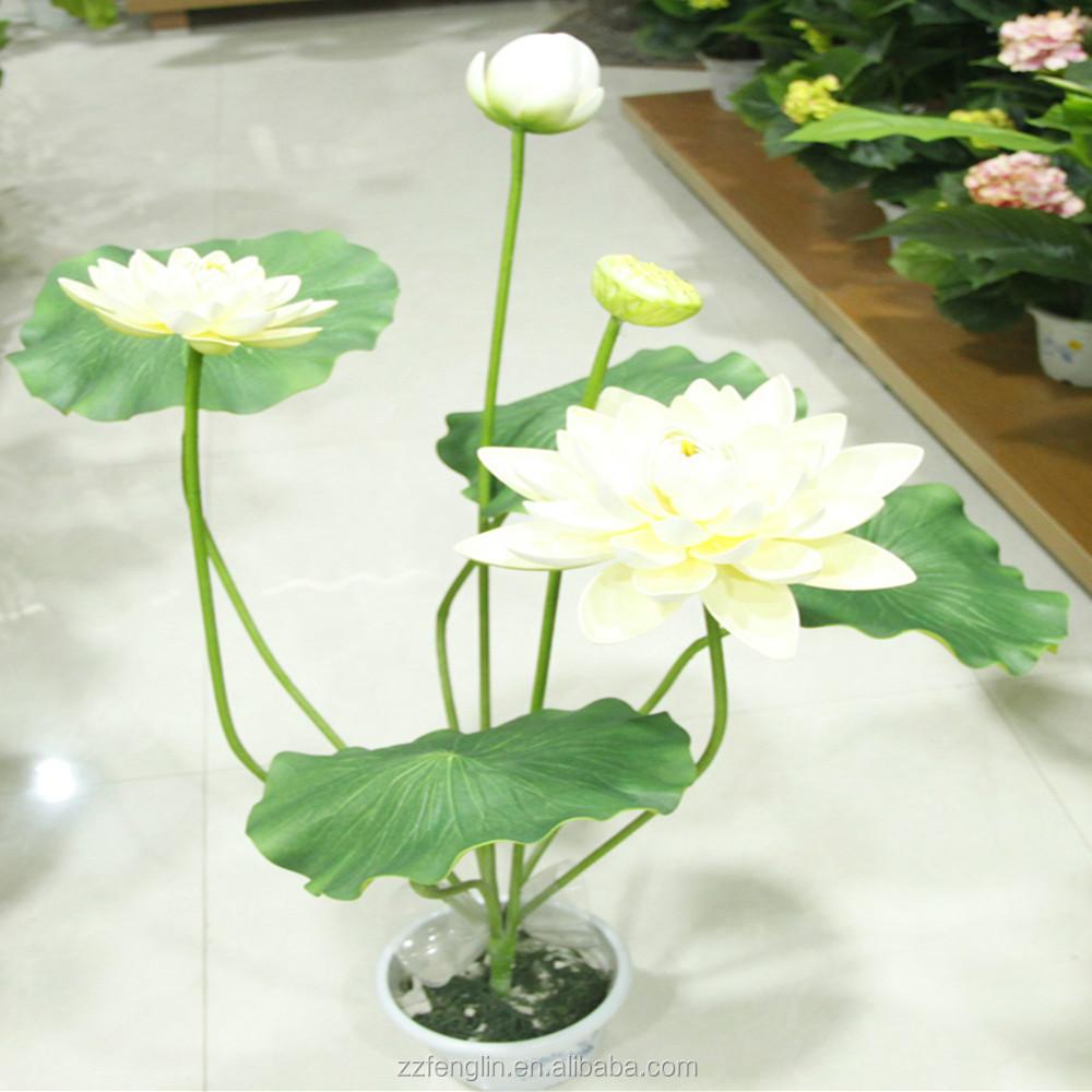 2015 Popular Artificial Water Lily Fake Lotus Bonsai Wholesale Buy