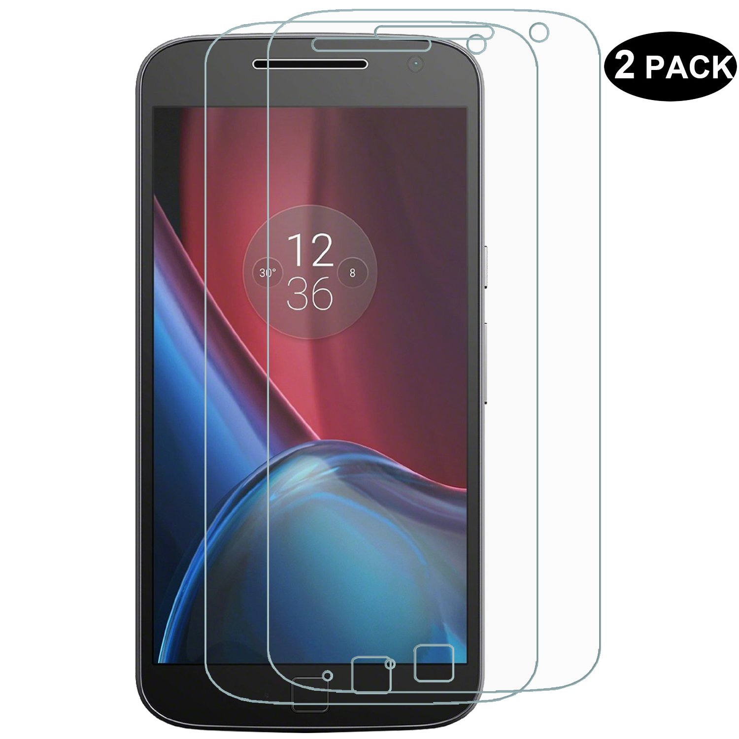 [2 Pack] RBEIK Moto G Plus 4th Generation Screen Protector, Tempered Glass Protector for Motorola Moto G Plus (4th Gen.) with [Scratch-resistant] [Bubble Free]