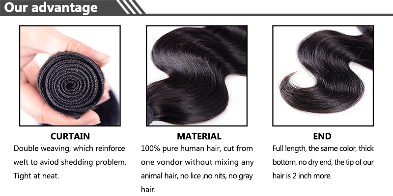 China Manufacture Xuchang Suppliers 100% Virgin Human Hair Weavon ...