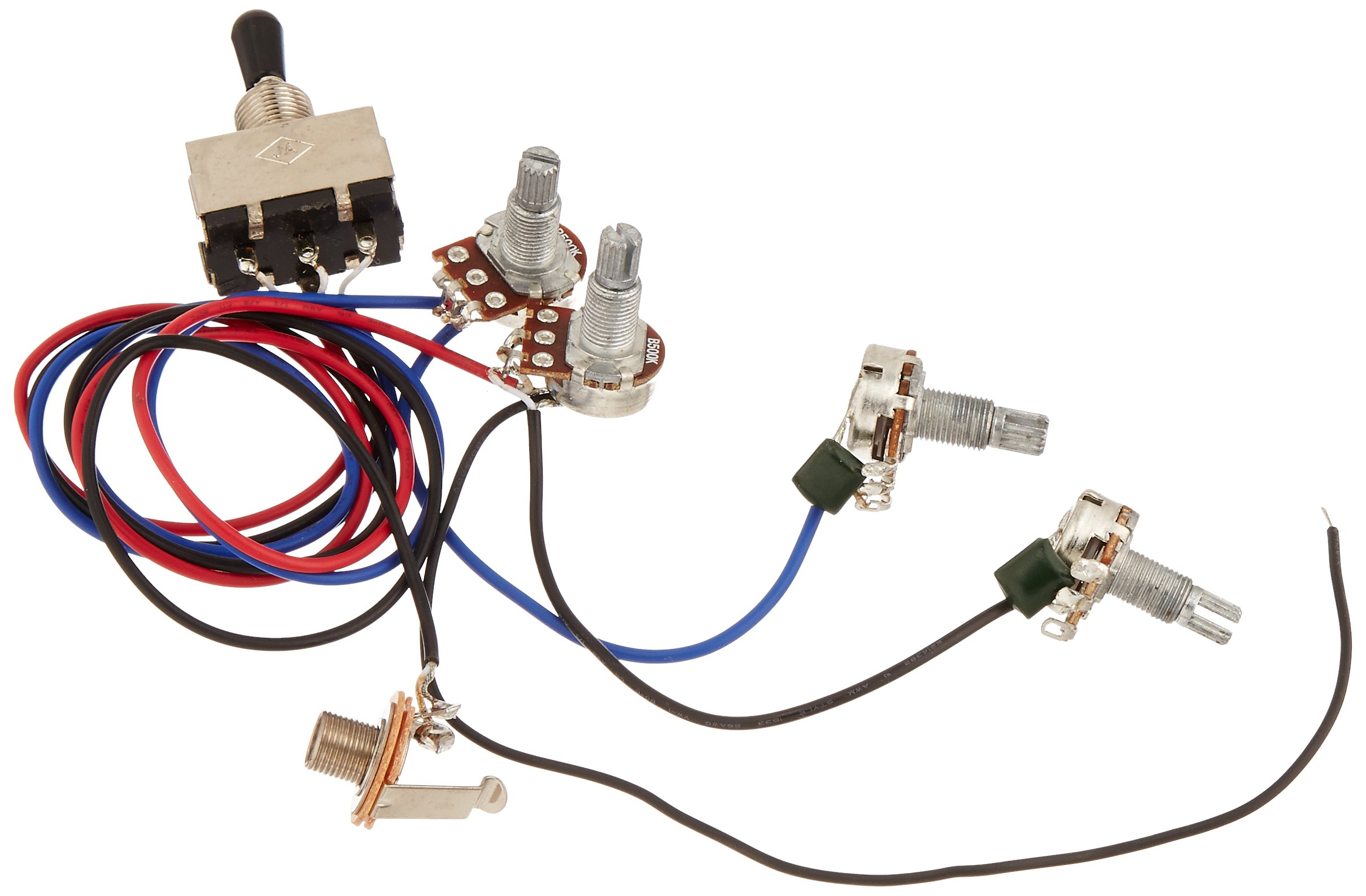 Cheap Gibson Guitar Wiring Find Deals On Line Jack Cable Get Quotations Kmise Harness Prewired 2v2t 3way Toggle Switch 500k Pots For Replacement