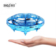 Hoshi Anti-collision Hand UFO Ball Flying Aircraft RC Toys Led Gift Suspension Mini Induction Drone For Children Boys