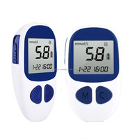 New products high accurate blood glucose meters glucometer with 50pcs test strips digital diabetes checking monitor AH-506