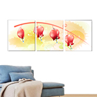 3 Panel Abstract Modern Painting Design Simple Flower Vase Painting