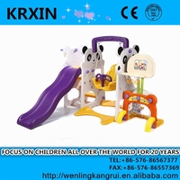 indoor and outdoor toy children swings with basket and slide