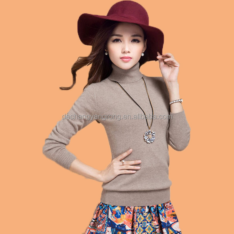 lady's high collar pullovers