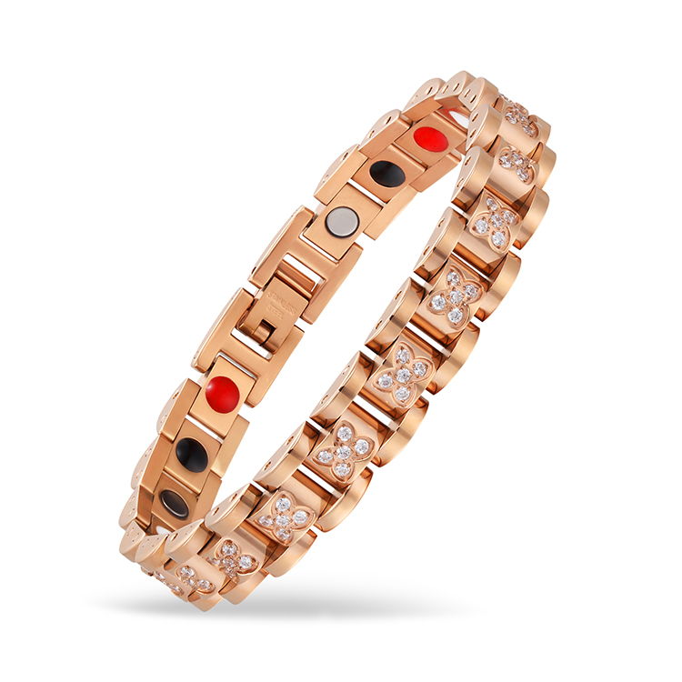 Modern Style Different Types 3500 Gauss Magnets 5 in 1 Pure Copper Bracelet Magnetic