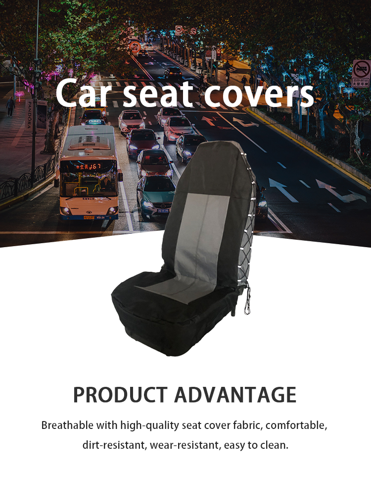 ZT-B-109 car seat cover polyester and PU leather covers