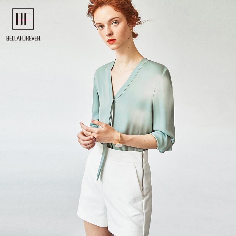 e5b11178c52ab Casual fashion hot sale design long sleeve silk ribbon amazon online women  clothing ladies tops blouse shirts blusa chiffon