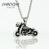Motorcycle DIY fancy long chain necklace jewelries pendant