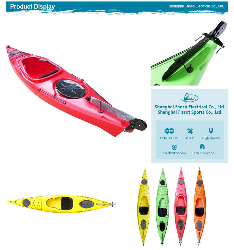 Long life no inflatable 3.6 meters professional kayak with paddle
