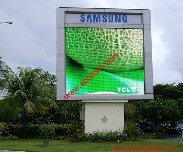 big outdoor vivid scrolling advertising messsage photo P20 led billboards
