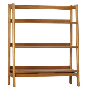 Free Standing Simple 3 Tier Bookshelf Industrial Flat Pack Bookcase