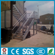 Prefabricated exterior used metal straight stair with anti-slip ladder