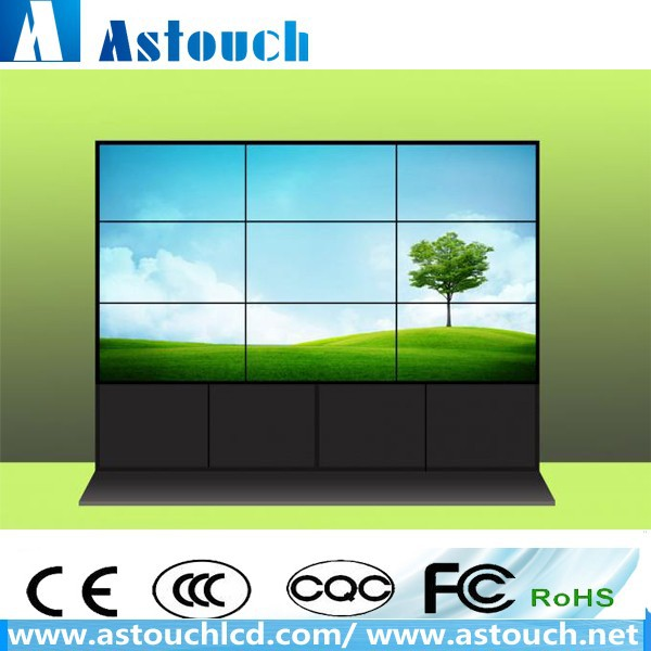 "Shopping mall 55"" LG brand 500 nits 3.5 mm narraw bezel LCD video wall for advertising application"