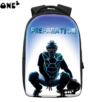 Sport preparation light blue baseball school computer laptop travel backpack for girls