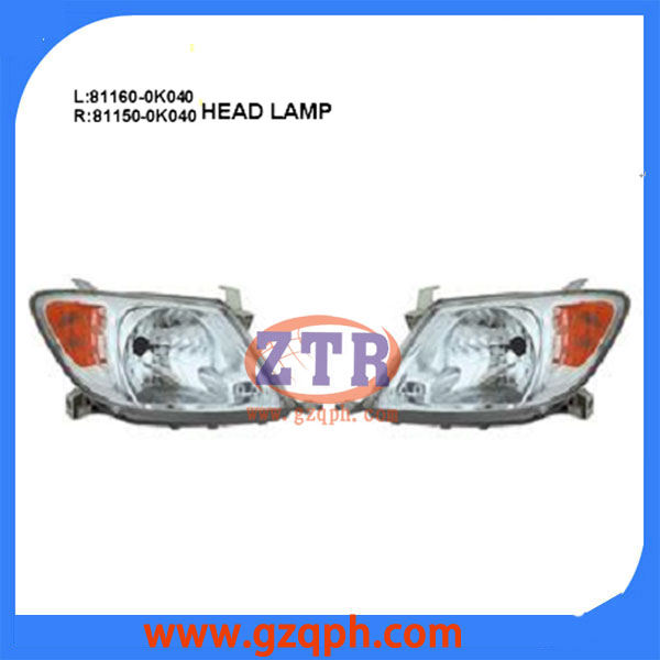 Head Lamp OEM L:81160-0k040 R:81150-0k040 For Hilux Vigo 2006