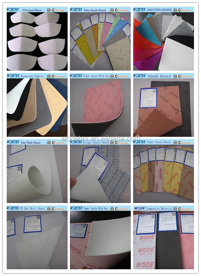 Paper coating latex and EVA sheets for footwear of insole board with latex