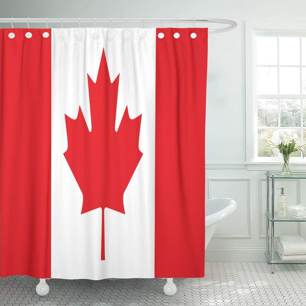 Buy Shower Curtain Resplendent Canadian Canada Flag In Cheap