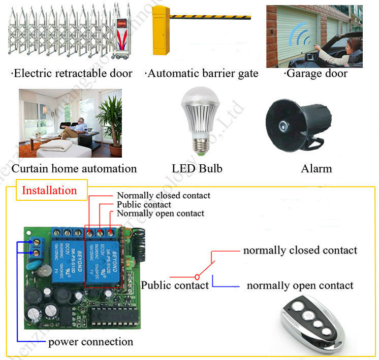 Remote Control Relay Switch Sliding Auto Gate Control Board - Rc car relay switch