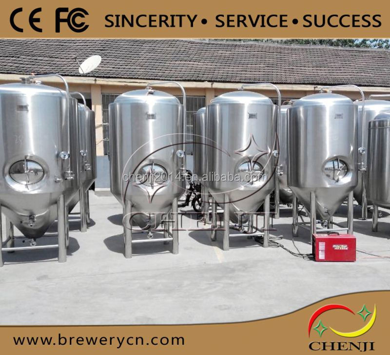 cooling jacket conical fermenter 200L brew kettle,professional beer brewing equipment