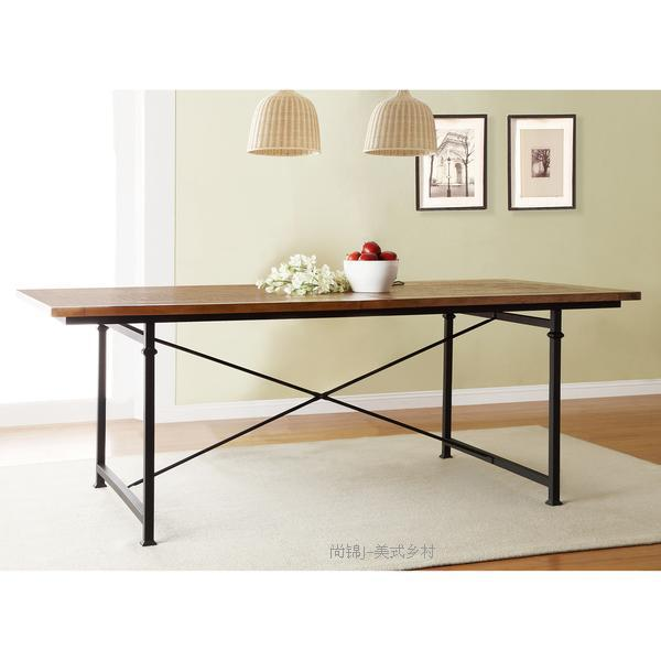 American country furniture loft-style dining table made of solid wood rusty old iron imitation large rectangular table desk