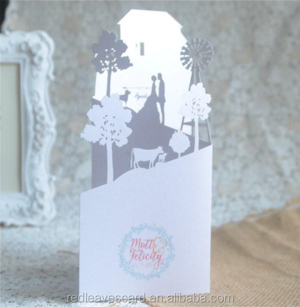 custom pop up wedding invitation card 3 folded buy custom pop up wedding invitation carddiy 3d birthday cardtalking wedding invitation card product on - Pop Up Wedding Invitations