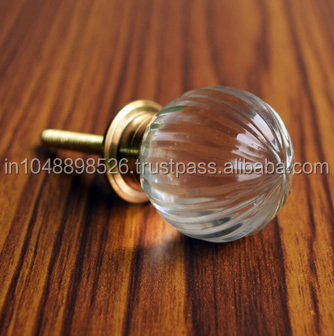 Hand Crafted India Glass Door Knobs