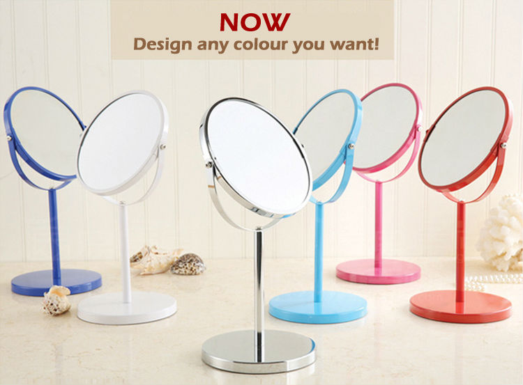 7 Inch Size Magnified Powder Spraying Metal Cosmetic Makeup Mirror
