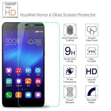 Premium Tempered Glass  for Huawei Honor 6 ,9H Explosion-proof 0.25D Arc Edge Screen Protector Film (For huawei 6 5.0inch)