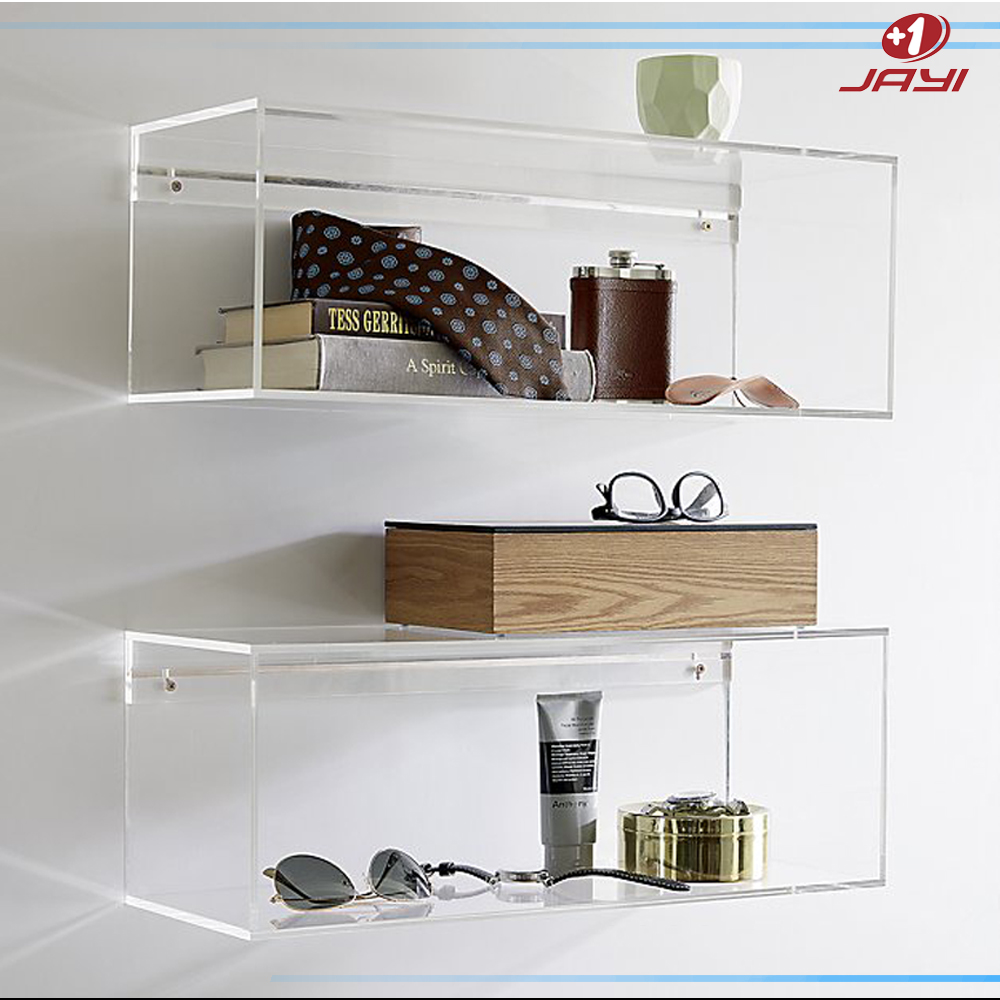 Factory supply Acrylic new design livingroom bedroom wall bookshelf modern bookshelf