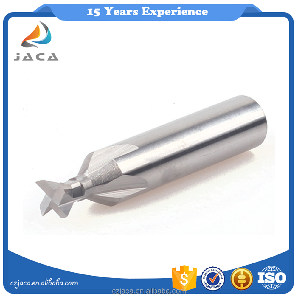 Dovetail end mill for steel and cast iron