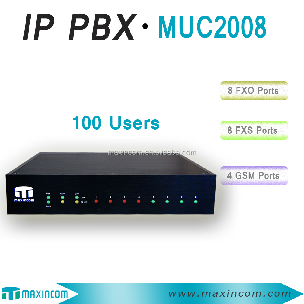 china wholesale price 8 sim cards gsm gateway pbx/ pbx system price/ pbx phone system support 100 users with 8 analog ports