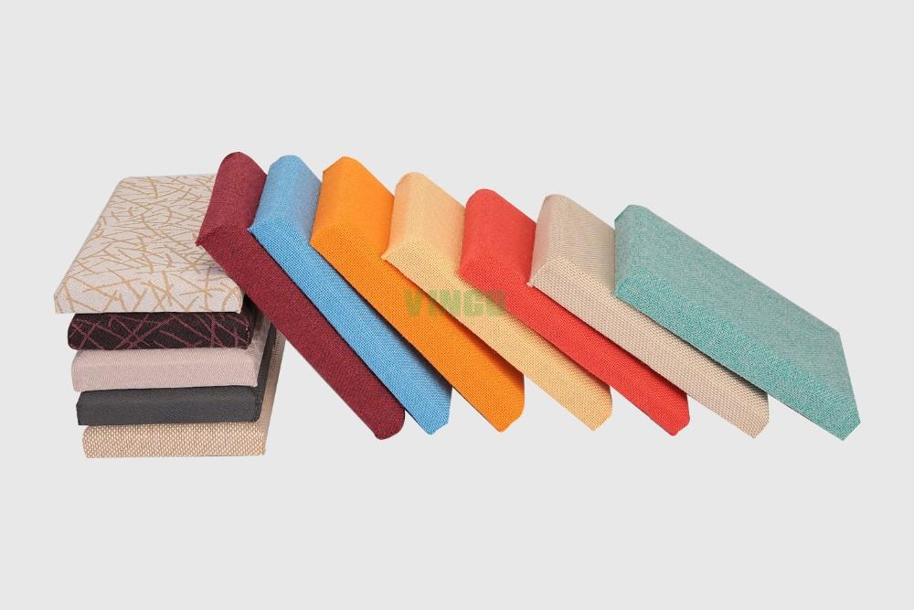 Sound Absorbing Fiberglass Wool Fabric Ceiling Decorative 3d Wall