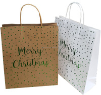 2018 christmas Kraft paper bag