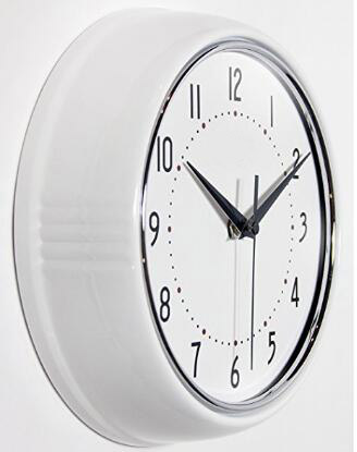 10 inches round plastic wall clock with sweep movement