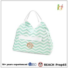 Green color PVC material Tote Bag For Woman